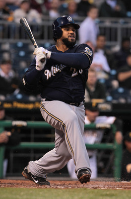PITTSBURGH, PA - APRIL 13:  Prince Fielder #28 of the Milwaukee Brewers during their game against the Pittsburgh Pirates at PNC Park on April 13, 2011 in Pittsburgh, Pennsylvania.  (Photo by Scott Halleran/Getty Images)