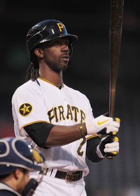 PITTSBURGH, PA - APRIL 13:  Andrew McCutchen#22 of the Pittsburgh Pirates steps to the plate during their game against the Milwaukee Brewers at PNC Park on April 13, 2011 in Pittsburgh, Pennsylvania.  (Photo by Scott Halleran/Getty Images)
