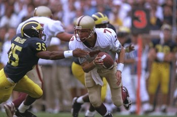 Why a Boston Globe article? Matt Hasselbeck in his days at Boston College. September, 1996.