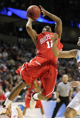 SPOKANE - MARCH 19:  Aubrey Coleman #12 of the Houston Cougars shoots against the Maryland Terrapins during the first round of the 2010 NCAA men's basketball tournament at the Spokane Arena on March 19, 2010 in Spokane, Washington. (Photo by Otto Greule J