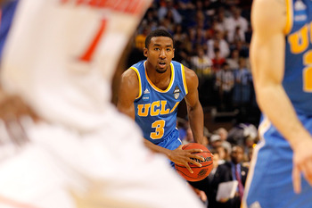 TAMPA, FL - MARCH 19:  Malcolm Lee #3 of the UCLA Bruins looks to pass the ball against the Florida Gators during the third round of the 2011 NCAA men's basketball tournament at St. Pete Times Forum on March 19, 2011 in Tampa, Florida. Florida won 73-65.