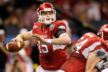Arkansas quarterback Ryan Mallett put up some big numbers in college but comes with some baggage.