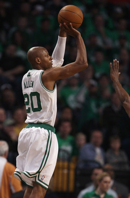 Ray Allen shoves in the dagger to avoid a game-one upset by the New York Knicks.