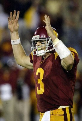 USC QB Carson Palmer celebrates TD in second half