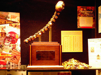 Notre Dame - USC Trophy:  Jeweled Shillelagh introduced in 1952