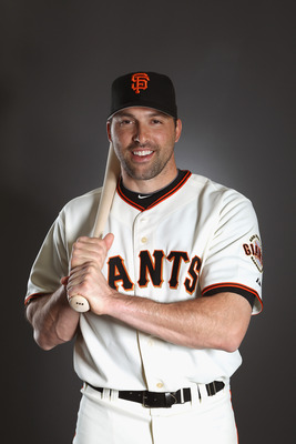 SCOTTSDALE, AZ - FEBRUARY 23:  Mark DeRosa #7 of the San Francisco Giants poses for a portrait during media photo day at Scottsdale Stadium on February 23, 2011 in Scottsdale, Arizona.  (Photo by Ezra Shaw/Getty Images)