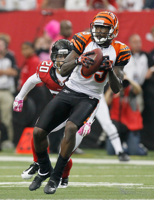 ATLANTA - OCTOBER 24:  Chad Ochocinco #85 of the Cincinnati Bengals against the Atlanta Falcons at Georgia Dome on October 24, 2010 in Atlanta, Georgia.  (Photo by Kevin C. Cox/Getty Images)