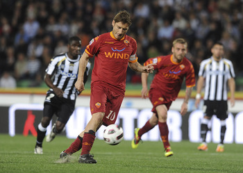 Francesco Totti is still the man at Roma, scoring twice in a recent 2-1 win at Udinese