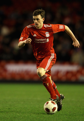 LIVERPOOL, ENGLAND - FEBRUARY 14:  Jack Robinson of Liverpool in action during the FA Youth Cup match between Liverpool and Southend United at Anfield on February 14, 2011 in Liverpool, England.  (Photo by Clive Brunskill/Getty Images)
