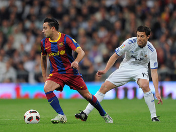 Xavi must continue to dictate the pace and help control possession