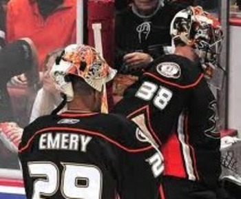 Ray Emery and Dan Ellis