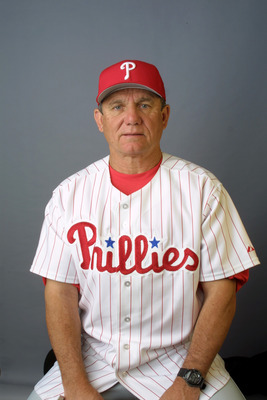25 Feb 2002: Larry Bowa, Manager of the Philadelphia Phillies poses during media day at Carpenter Field in Clearwater, Florida. DIGITAL IMAGE  Mandatory Credit: Rick Stewart/Getty Images