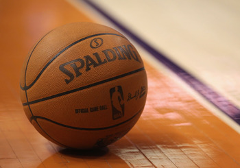 PHOENIX, AZ - MARCH 30:  Detail of a NBA basketball during the NBA game between the Oklahoma City Thunder and the Phoenix Suns at US Airways Center on March 30, 2011 in Phoenix, Arizona.  The Thunder defeated the Suns 116-98. NOTE TO USER: User expressly