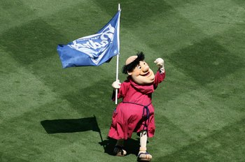 SAN DIEGO - OCTOBER 03:  The San Diego Padres mascot, The Friar, performs on the field before the start of the National League Division Series Game 1 against the St. Louis Cardinals on October 3, 2006 in San Diego, California.  (Photo by Christian Peterse