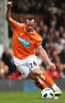 LONDON, ENGLAND - APRIL 03:  Charlie Adam of Blackpool in action during the Barclays Premier League match between Fulham and Blackpool at Craven Cottage on April 3, 2011 in London, England.  (Photo by Ian Walton/Getty Images)