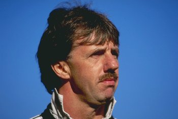 Oct 1996:  A portrait of Mark Lawrenson the defensive coach of Newcastle United. Mandatory Credit: Allsport