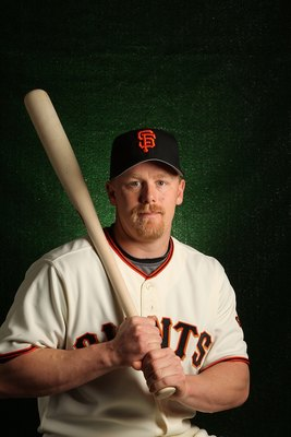 SCOTTSDALE, AZ - FEBRUARY 28:  Steve Holm of the San Francisco Giants poses during media photo day on February 28, 2010 at Scottsdale Stadium in Scottsdale, Arizona.  (Photo by Jed Jacobsohn/Getty Images)