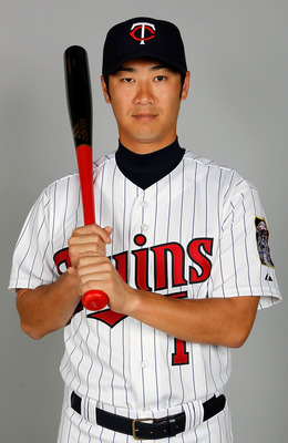 FORT MYERS, FL - FEBRUARY 25:  Infielder Tsuyoshi Nishioka #1 of the Minnesota Twins poses for a photo during photo day at Hammond Stadium on February 25, 2011 in Fort Myers, Florida.  (Photo by J. Meric/Getty Images)