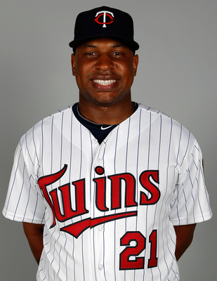 FORT MYERS, FL - FEBRUARY 25:  Outfielder Delmon Young #21 of the Minnesota Twins poses for a photo during photo day at Hammond Stadium on February 25, 2011 in Fort Myers, Florida.  (Photo by J. Meric/Getty Images)