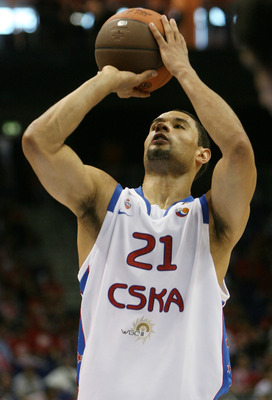 BERLIN - MAY 01:  Trajan Langdon of Moscow is seen during the Euroleague Basketball Final Four semi Final game between Regal FC Barcelona and CSKA Moscow at O2 World on May 1, 2009 in Berlin, Germany.  (Photo by Matthias Kern/Getty Images)