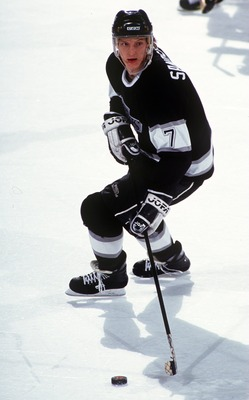 17 DEC 1993:  TOMAS SANDSTROM OF THE LOS ANGELES KINGS IN ACTION AT THE BUFFALO SABRES. Mandatory Credit: Rick Stewart/ALLSPORT