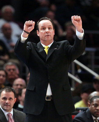 NEW YORK, NY - MARCH 31:  Head coach Gregg Marshall of the Wichita State Shockers instructs his team against the Alabama Crimson Tide during the 2011 NIT Championship game on March 31, 2011 at Madison Square Garden in New York City.  (Photo by Jim McIsaac