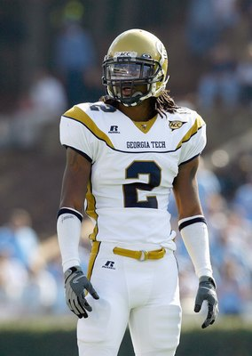 CHAPEL HILL, NC - NOVEMBER 08:  Mario Butler #2 of the Georgia Tech Yellow Jackets looks on the field before the game against the North Carolina Tar Heels at Kenan Stadium on November 8, 2008 in Chapel Hill, North Carolina.  (Photo by Kevin C. Cox/Getty I