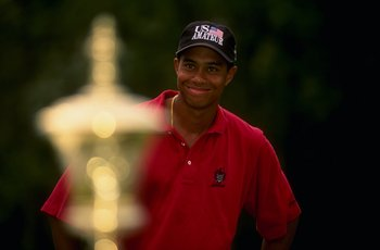 He had won three straight U.s, Amateur titles, and was ready to explode at the professional level. But Tiger Woods was still very young.
