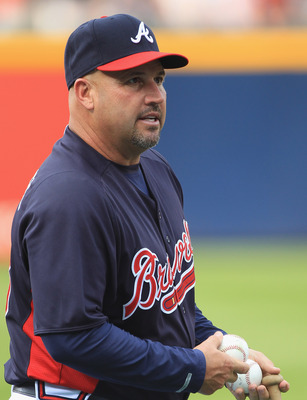 ATLANTA, GA - APRIL 08:  Manager Fredi Gonzalez #33 of the Atlanta Braves watches on ahead of their opening day game against the Philadephia Phillies at Turner Field on April 8, 2011 in Atlanta, Georgia.  (Photo by Streeter Lecka/Getty Images)