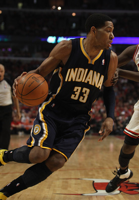 CHICAGO, IL - APRIL 16: Danny Granger #33 of the Indiana Pacers moves against the Chicago Bulls in Game One of the Eastern Conference Quarterfinals in the 2011 NBA Playoffs at the United Center on April 16, 2011 in Chicago, Illinois. The Bulls defeated th