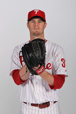 CLEARWATER, FL - FEBRUARY 22:  Kyle Kendrick #38 of the Philadelphia Phillies poses for a photo during Spring Training Media Photo Day at Bright House Networks Field on February 22, 2011 in Clearwater, Florida.  (Photo by Nick Laham/Getty Images)