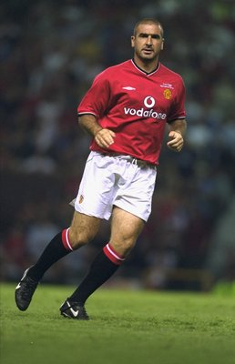 1 Aug 2001:  Eric Cantona makes a comeback in the Manchester United shirt during the Ryan Giggs Testimonial match against Celtic played at Old Trafford, in Manchester, England. Celtic won the match 4-3. \ Mandatory Credit: Gary M Prior /Allsport