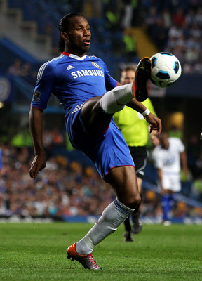 LONDON, ENGLAND - APRIL 20:  Didier Drogba of Chelsea controls the ball during the Barclays Premier League match between Chelsea and Birmingham City at Stamford Bridge on April 20, 2011 in London, England.  (Photo by Clive Rose/Getty Images)