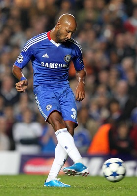 LONDON, ENGLAND - SEPTEMBER 28 :   Nicolas Anelka of Chelsea slots a penalty kick during the UEFA Champions League Group F match between Chelsea and Marseille at Stamford Bridge on September 28, 2010 in London, England.  (Photo by Jan Kruger/Getty Images)