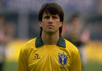 14 Oct 1989:  Portrait of Dunga of Brazil before the Bologna Friendly match against Italy in Bologna, Italy. Brazil won the match 1-0. \ Mandatory Credit: David  Cannon/Allsport