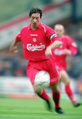 17 Nov 2001:  Robbie Fowler of Liverpool on the ball during the FA Barclaycard Premiership match between Blackburn Rovers and Liverpool played at Ewood Park in Blackburn, England. \ Mandatory Credit: Gary M Prior /Allsport