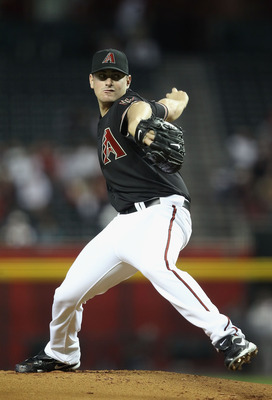 PHOENIX, AZ - APRIL 09:  Daniel Hudson #41 of the Arizona Diamondbacks pitches against the Cincinnati Reds during the Major League Baseball game at Chase Field on April 9, 2011 in Phoenix, Arizona. The Reds defeated the Diamondbacks 6-1.  (Photo by Christ