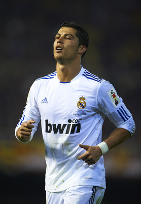 VALENCIA, BARCELONA - APRIL 20:  Cristiano Ronaldo of Real Madrid looks on during the Copa del Rey final match between Real Madrid and Barcelona at Estadio Mestalla on April 20, 2011 in Valencia, Spain. Real Madrid won 1-0  (Photo by Manuel Queimadelos Al