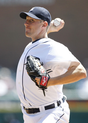 DETROIT - APRIL 13:  Max Scherzer #37 of the Detroit Tigers pitches in the third inning of the game against the Texas Rangers at Comerica Park on April 13, 2011 in Detroit, Michigan.  (Photo by Leon Halip/Getty Images)