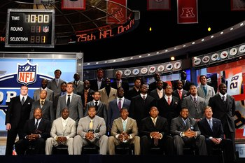 Roger Goodell with 2010 first round selections...a sight we might not see this year.