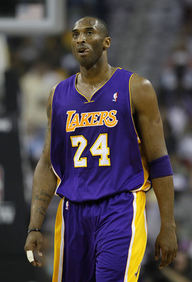 NEW ORLEANS - APRIL 24:  Kobe Bryant #24 of the Los Angeles Lakers stands during a freethrow against the New Orleans Hornets in Game Four of the Western Conference Quarterfinals in the 2011 NBA Playoffs at New Orleans Arena on April 24, 2011 in New Orlean
