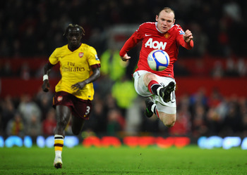 Wayne Rooney's side are well in fron of Bacary Sagna's, but it still could all change