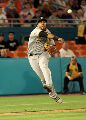 MIAMI GARDENS, FL - APRIL 21:  Pedro Alvarez #24 of the Pittsburgh Pirates makes a throw to first during a game against the Florida Marlins at Sun Life Stadium on April 21, 2011 in Miami Gardens, Florida.  (Photo by Mike Ehrmann/Getty Images)