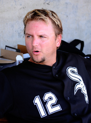 PHOENIX, AZ - MARCH 17:  A.J. Pierzynski #12 of the Chicago White Sox sits in the dug out against the Milwaukee Brewers during the spring training game at Maryvale Baseball Park on March 17, 2011 in Phoenix, Arizona.  (Photo by Kevork Djansezian/Getty Ima