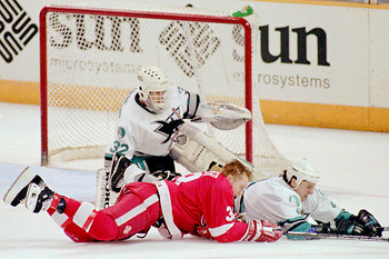 The San Jose Sharks first ever playoff series win came at the expense of the powerhouse Detroit Red Wings.