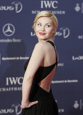 BARCELONA, SPAIN - APRIL 02:  Actress Elisha Cuthbert arrives at the awards ceremony during the Laureus Sports Awards at the Palau Sant Jordi on April 2, 2007 in Barcelona, Spain.  (Photo by Bruno Vincent/Getty Images for Laureus)