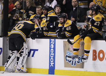 The Boston Bruins were added to teams of futility in 2010, becoming the third team to lose after being up 3-0.