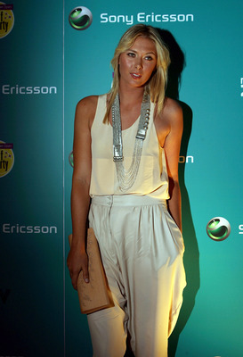 MIAMI - MARCH 25:  Maria Sharapova arrives on the red carpet of the players kick off party, at the Fountainbleu Hotel in club LIV prior to the Sony Ericsson Open on March 25, 2009 in Miami, Florida.  (Photo by Marc Serota/Getty Images for Sony Ericsson)