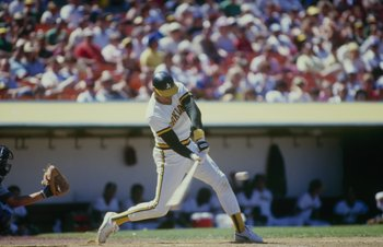 1986: Dave Kingman #26 of the Oakland Athletics swings at the pitch during a 1986 season game. Dave Kingman played for the Athletics from 1984-1986. (Photo by: Otto Greule Jr/Getty Images)