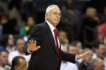 CHARLOTTE, NC - DECEMBER 1:  Head coach Larry Brown of the Charlotte Bobcats calls a play during the game against the Boston Celtics on December 1, 2009 at Time Warner Cable Arena in Charlotte, North Carolina.  The Celtics won 108-90.  NOTE TO USER: User